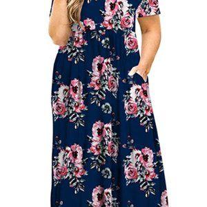 Plus Size Tunic Swing T-Shirt Dress w pockets